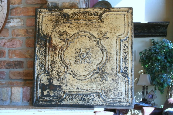 Huge Genuine Antique Ceiling Tin Wall Art