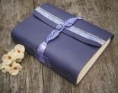 "Leather Journal / Handmade / Purple / 6x4"" /"