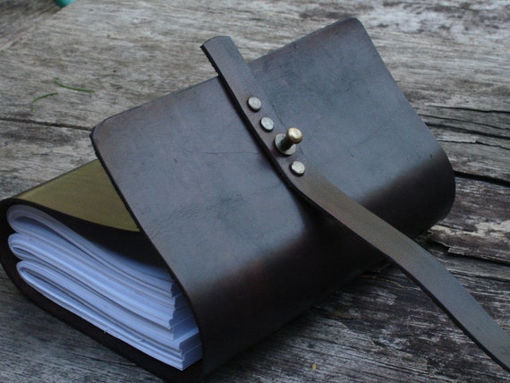 "Leather Journal / Handmade / Diary / 6""X4"" / FREE initials"