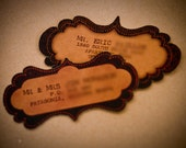 Vintage Custom Scalloped Kraft Mailing Labels - Set of 8 (Self-Adhesive)