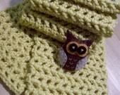 Owl Yellow Scarf