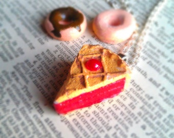 Cherry Pie Necklace -Cherry on Top - Kawaii Necklace