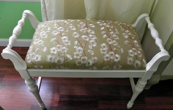 Upholstered antique bench