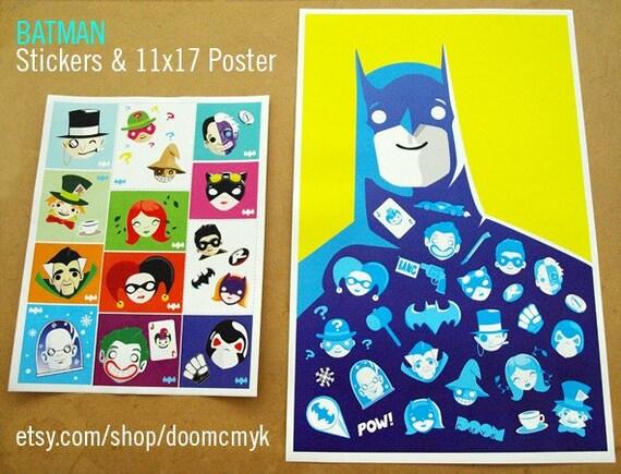 Batman 11x17 Fan Art Poster and Stickers
