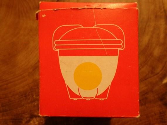 Vintage 1940 Eierkoch/ Egg coddler by W. Wagenfeld / H Löffelhardt, Schott &Gen Mainz, Jenaer Glas