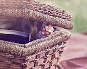 Picnic Basket Photography, Picnic Print, Picnic Basket Art, Red, Brown, Wine, Rustic, Americana Photography, Picnic Art, Kitchen Wall Art
