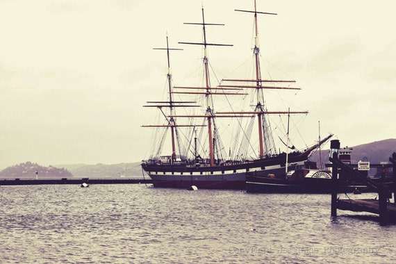 Ship Photography, Ship Print, Nautical Decor, Vintage Ship Print, Navy, Blue, Gray, Boat Photography, Nautical Print, Vintage Ship Wall Art