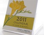 2011 Mini Calendar of Flower Blooms