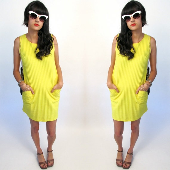 yellow pocket dress