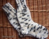 Hand knitted very warm lambswool - mohair men's socks