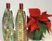 2 Wine Bottle Bags, Holiday Candies and Trees