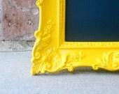 Yellow Gloss Vintage Style Chalkboard