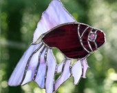 Stained Glass Purple Fish Suncatcher