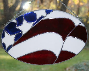 Patriotic Stained Glass Flag