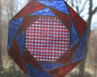 Stained Glass Patriotic Quilt Panel
