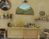 "Original 3D Mixed Media - "" California Wine Tasting Room"" - OOAK -  International Shipping"