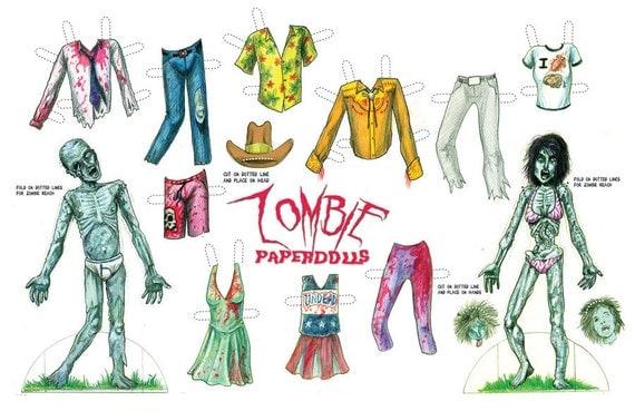Items Similar To Zombie Paperdolls On Etsy