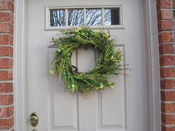 Spring Wreath - Door Wreath - Floral Wreath - Green Wreath - Front Door Decor
