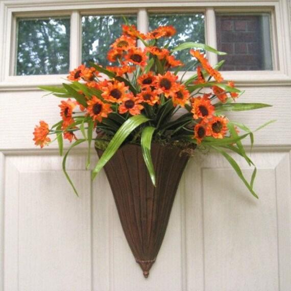 Summer Wreaths - Front Door Wreath - Orange Sunflowers - Year Round Wreath - Wreaths - Sunflowers Summer Wreath