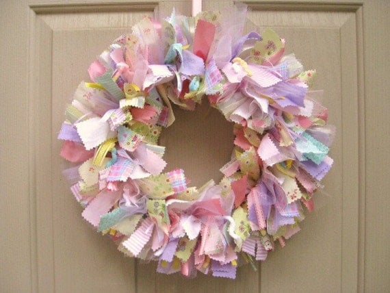Newborn baby girl wreath baby door wreath baby shower for Baby girl hospital door decoration