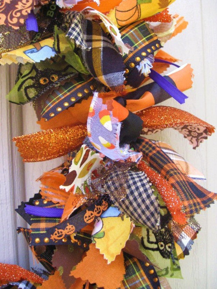 Halloween Wreath Fabric Wreath And Ribbon Wreath By