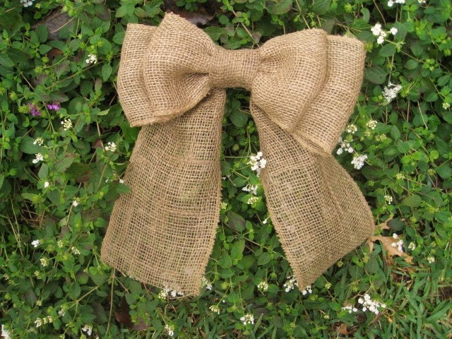 Burlap Bow Wreath Wedding By AWorkofHeartSA