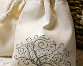 RESERVED for Sabrina - 10 Cotton Drawstring Muslin Favor Bags - NO IMAGE
