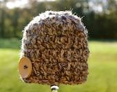 Chunky Brown Hat -  Newborn