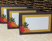 Autumn Leaves Place Cards - Set of 4