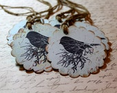 Vintage Inspired Tags - Bird - Set of 5