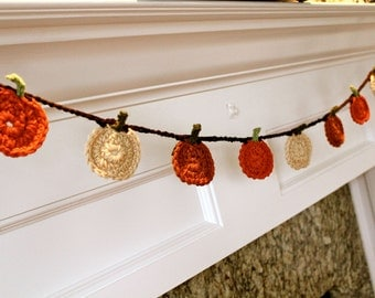 Crocheted Pumpkin Garland