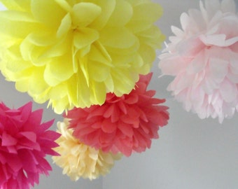5 Poms ... Pick your colors