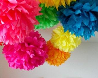 Event decor ... Tissue pom kit ... 30 Poms .... Pick Your Colors