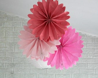 Party decorations - 12 pomwheels ... pick your colors // girl birthday party //pink princess // wedding decor // diy sale