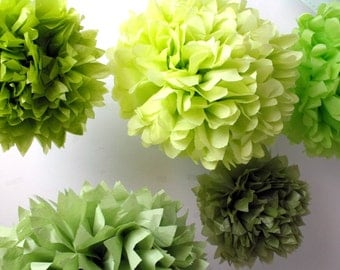Tissue paper pom pom Sale ... 20 poms ... Choose Your Colors