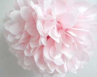Tissue pom ... 1 JUMBO paper pompom // party decor // wedding decorations // chandelier tablescape // pink blush