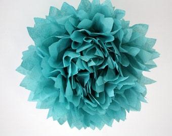 Tissue pom ...  Carribean Blue ... 1 paper pompom