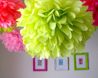 Tissue paper pompoms ... 6 SMALL poms