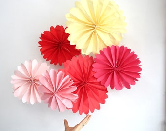 birthday party decor ....  12 tissue paper pomwheels ... pick your colors // weddings  decorations // bridal baby shower // valentines day