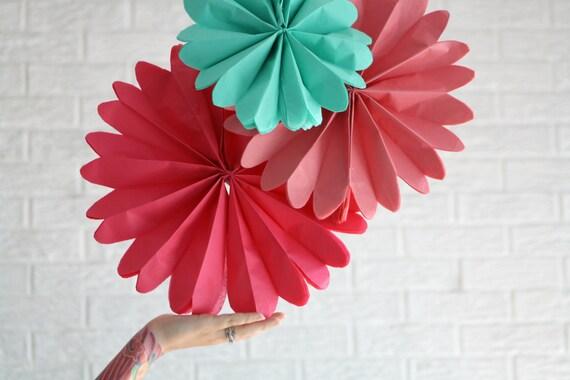 Wedding decorations - 12 pomwheels ... pick your colors.