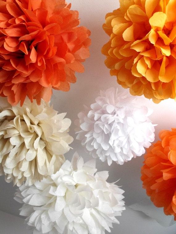 12 piece tissue paper pom pom kit ... 12 poms  ... Pick Your Colors - DIY Budget Party Decor