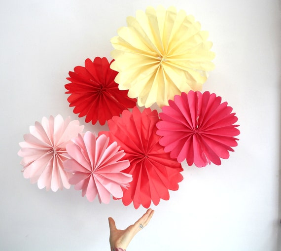 12 tissue paper pomwheels pick your - Tissue Paper Decorations