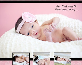 Baby Girl Damask