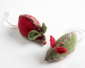 Christmas Catnip Mice from recycled thrift store sweaters, Holiday Gift Box included