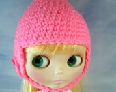 Hot Pink Gnome Helmet for Blythe