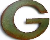 "Green Bay Packers wall art Emblem logo metal steel - 16"" wide - ornament green rust patina"