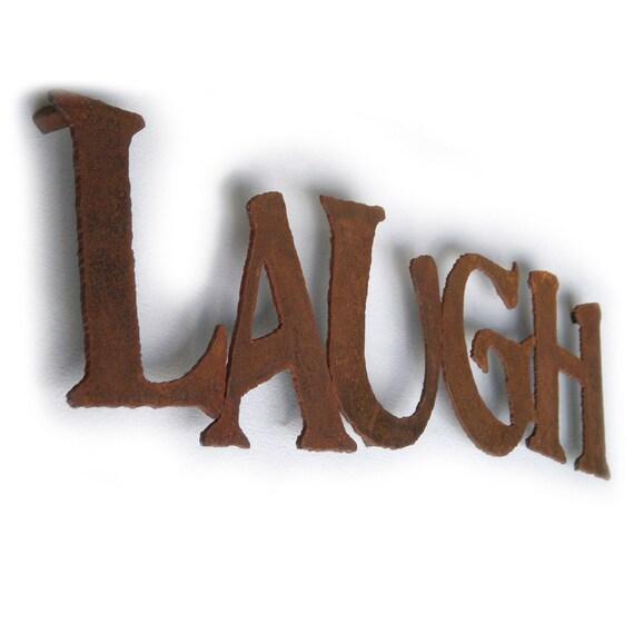 Long Metal Wall Decor : Items similar to laugh metal wall art quot long choose