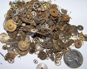 SALE 50% Off STEAMPUNK GEARS 130 pieces Vintage Watch Lot Plus Best Artist Steam Punk Movement Parts Industrial