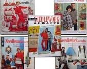 McCalls Needlework and Crafts Magazine lot Fall Winter 1960s