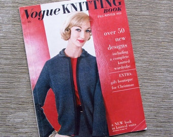 Vogue Knitting Book Magazine Fall Winter 1959 Christmas